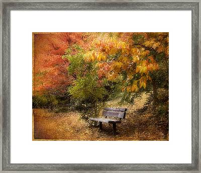 Autumn's Repose Framed Print by Jessica Jenney