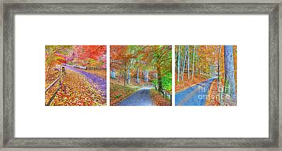 Autumns Way Framed Print by John Kelly