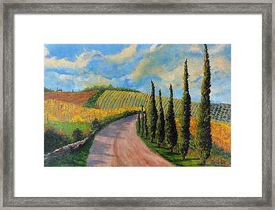 Autunno Toscano Framed Print