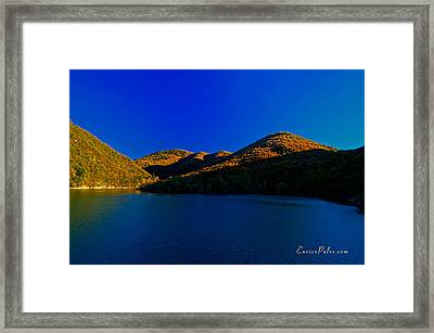 Autunno Tramonto Sul Lago - Autumn Lake Sunset Framed Print by Enrico Pelos