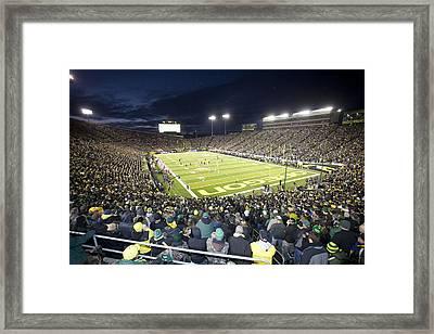 Autzen Stadium Framed Print by Georgia Fowler
