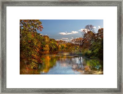 Autumn - Hillsborough Nj - Painted By Nature Framed Print by Mike Savad