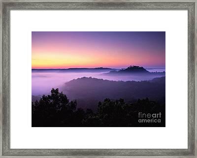 Auxier Ridge Dawn - Fm000023 Framed Print by Daniel Dempster
