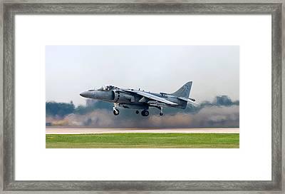 Av-8b Harrier Framed Print by Adam Romanowicz
