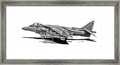 Av-8b Harrier Framed Print by Dale Jackson