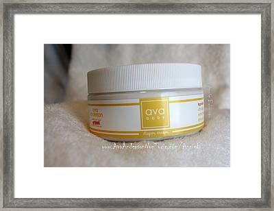 Ava Anderson Nontoxic Diaper Cream Framed Print by Anne Babineau