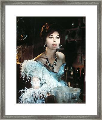 Ava Gardner In 55 Days At Peking  Framed Print by Silver Screen