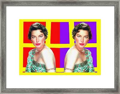 Ava Gardner In Bhowani Junction Framed Print by Art Cinema Gallery