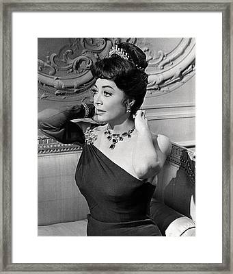 Ava Gardner In Tam Lin  Framed Print by Silver Screen