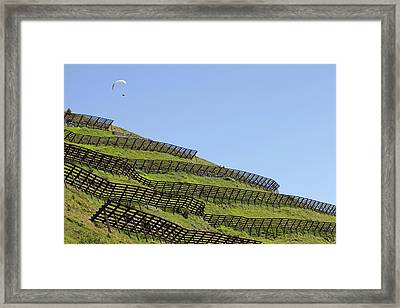 Avalanche Barriers Framed Print