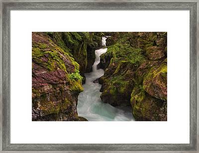 Avalanche Falls Framed Print by Mark Kiver