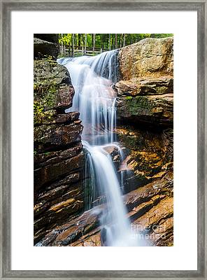 Framed Print featuring the photograph Avalanche Falls2 by Mike Ste Marie