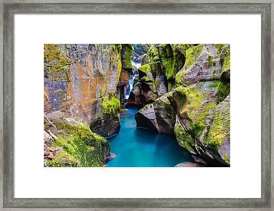 Avalanche Gorge 1 Of 4 Framed Print