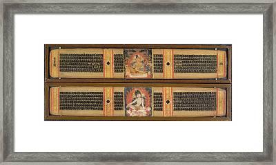 Avalokitesvara And Maitreya Framed Print by British Library