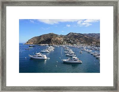 Avalon Harbor Framed Print