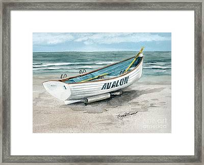 Avalon Lifeguard Boat  Framed Print