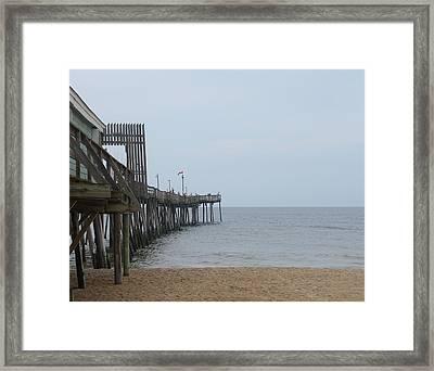 Avalon Pier Framed Print by Cathy Lindsey