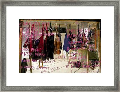 Framed Print featuring the photograph Performance List by Colleen Williams