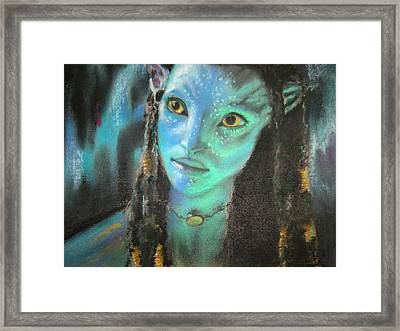 Framed Print featuring the pastel Avatar by Lori Ippolito