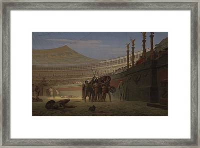 Ave Caesar Morituri Te Salutant , 1859 Framed Print by Jean Leon Gerome