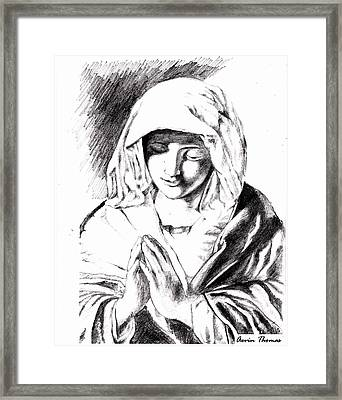Ave Maria Framed Print by Aevin Thomas