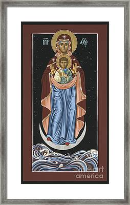 Framed Print featuring the painting Ave Maris Stella  Hail Star Of The Sea 044 by William Hart McNichols