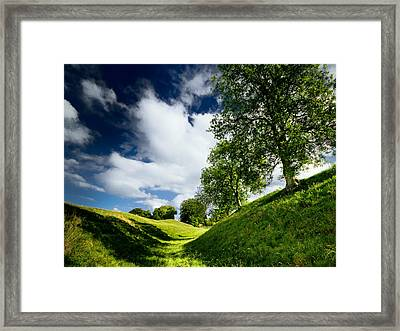 Avebury Hillside Framed Print by Julian Cook