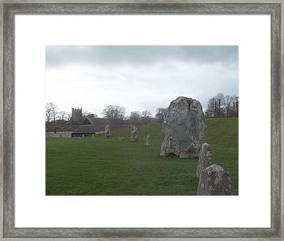 Avebury Stone Henge Framed Print