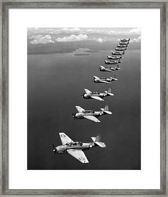 Avenger Bombers, 1943 Framed Print by Granger