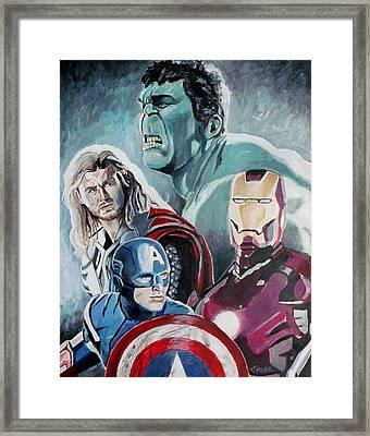 Avengers Framed Print by Jeremy Moore