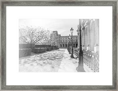 Avenue De La Louve In Black And White Framed Print by Ramona Murdock