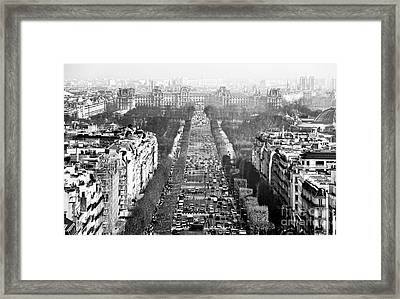 Avenue Des Champs-elysees Framed Print by John Rizzuto