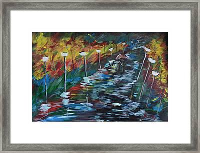 Avenue Of Shadows Framed Print by Donna Blackhall