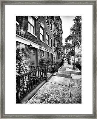 Avenue Walk Framed Print by John Rizzuto