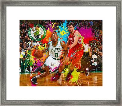 Avery Bradley Of The Boston Celtics Framed Print by Don Kuing