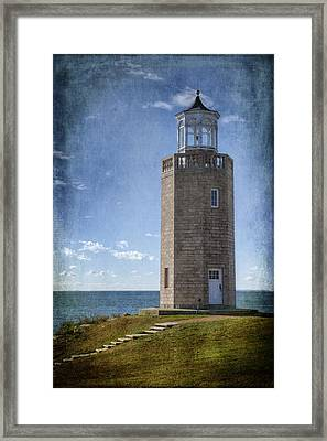 Avery Point Lighthouse Framed Print by Joan Carroll