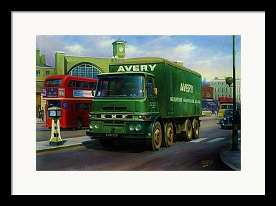 Old Bus Stations Paintings Framed Prints