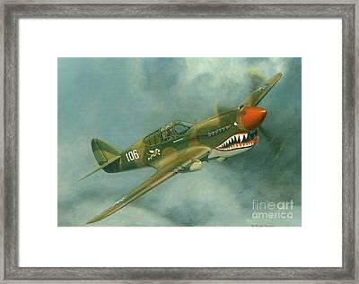 Avg Flying Tiger Framed Print by Michael Swanson