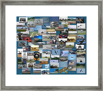 Aviation Collage Framed Print by Thomas Woolworth