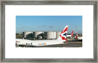 Aviation Fuel Tanks Framed Print