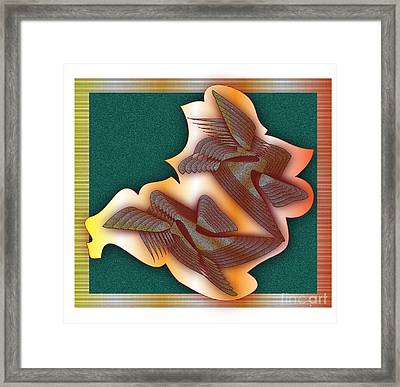Framed Print featuring the digital art Aviation by Iris Gelbart