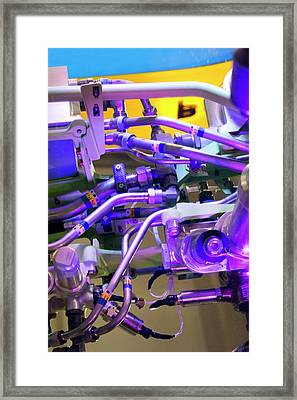 Aviation Pipework Framed Print by Mark Williamson