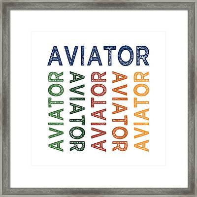 Aviator Cute Colorful Framed Print by Flo Karp