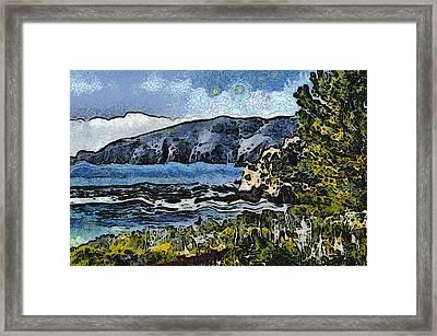 Avila Bay California Abstract Seascape Framed Print by Barbara Snyder