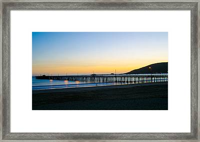 Avila Beach Pier Sunset Framed Print