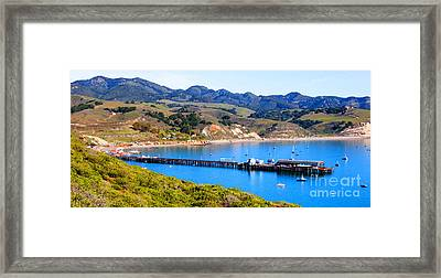 Avila Beach California Fishing Pier Framed Print