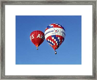 Avis Balloon Framed Print by John Swartz