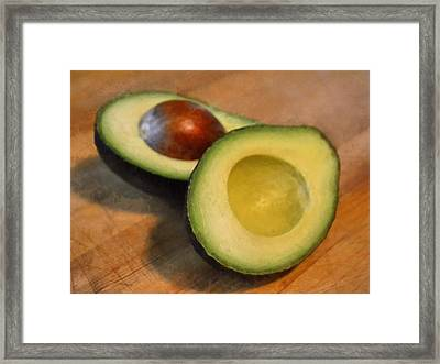 Avocado Framed Print by Michelle Calkins