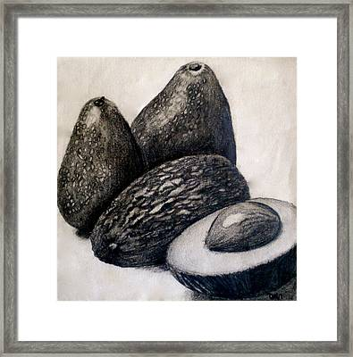 Avocados Framed Print by Debi Starr