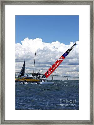 Avoiding Disaster. Framed Print by Butch Lombardi